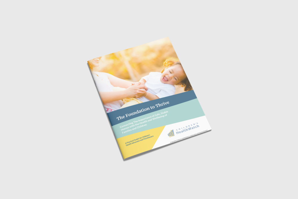 cover of the Children's Healthwatch toolkit