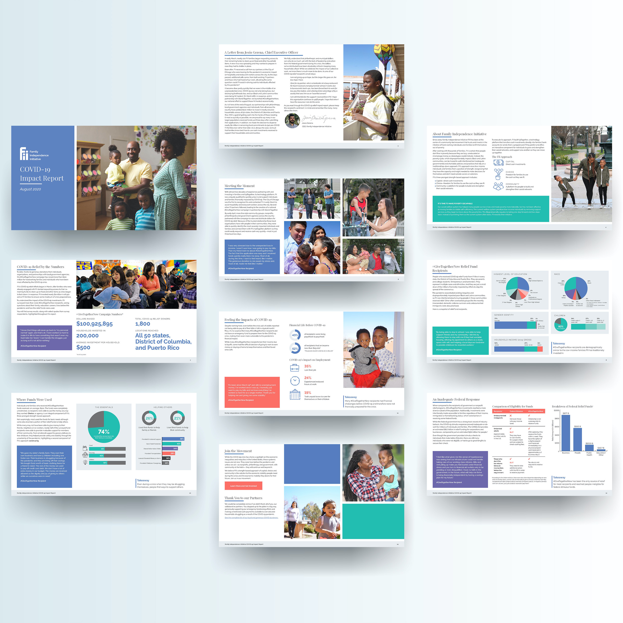 Mock up of the FII Covid-19 Relief report