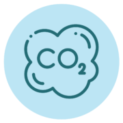 icon of a cloud with CO2 in the middle