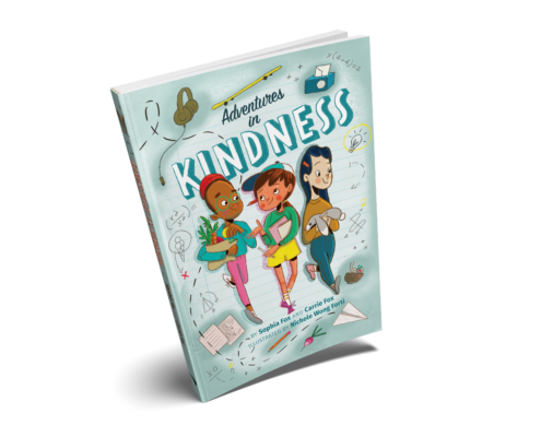 mockup of the book Adventures in Kindness