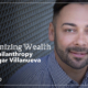 Episode 7 Mission Forward Podcast: close up of man's face with text reading Decolonizing Wealth in Big Philanthropy with Edgar Villanueva